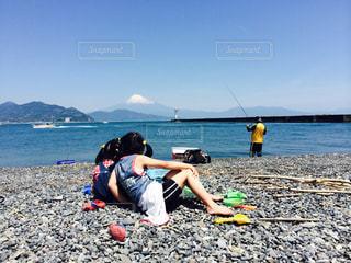 家族で釣りの写真・画像素材[811223]