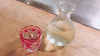可愛い切子グラスの写真・画像素材[856050]