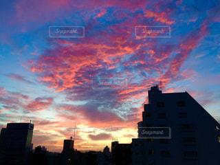 都会の夜明け前の写真・画像素材[814094]