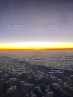 飛行機から見たサンセット - No.816461