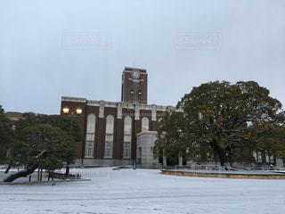 雪の降る日の京都大学の写真・画像素材[1026982]