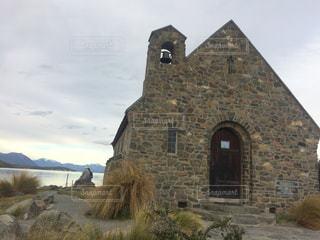 テカポ湖 羊飼いの教会の写真・画像素材[816255]