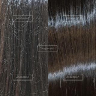 ダメージヘアの髪質改善後の写真の写真・画像素材[816797]