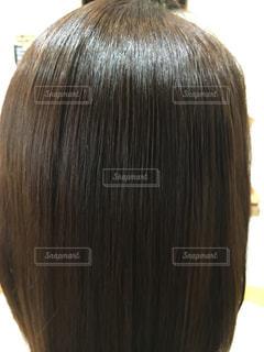 ツヤのある髪のアップ写真の写真・画像素材[903361]
