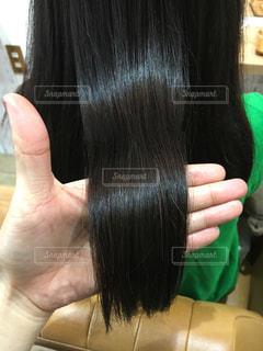 健康的な艶のある髪の写真・画像素材[903369]
