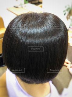 ツヤツヤの髪の写真です。の写真・画像素材[1454278]