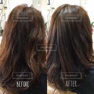 髪質改善のビフォーアフター写真の写真・画像素材[1526980]