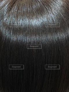 ツヤ髪のアップ写真、の写真・画像素材[1543696]