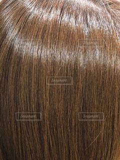 ツヤのある髪のアップ写真の写真・画像素材[1543698]