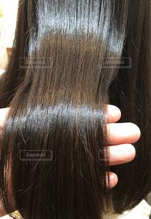ツヤのある髪の写真の写真・画像素材[2180833]