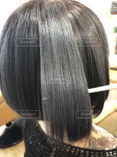 ツヤのある髪の写真の写真・画像素材[2376817]
