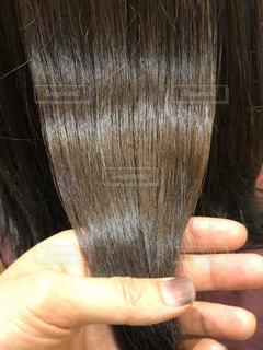 ストレートヘアーのツヤ髪写真の写真・画像素材[3120696]