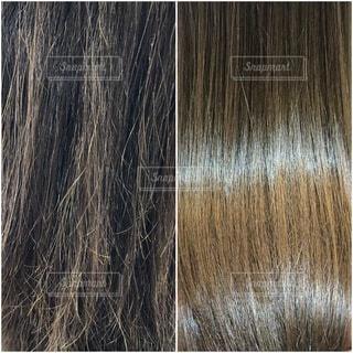 髪のダメージ改善のビフォーアフターの写真・画像素材[3360448]