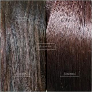 トリートメントカラーをした髪のビフォーアフターの写真・画像素材[3360449]