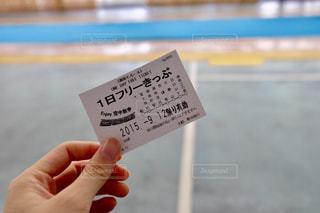 切符を手で持つの写真・画像素材[817918]