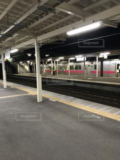 列車が駅に引いての写真・画像素材[822623]