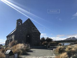 テカポ湖 教会の写真・画像素材[819623]