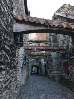 聖カタリーナの小径 エストニア・タリンの写真・画像素材[842189]