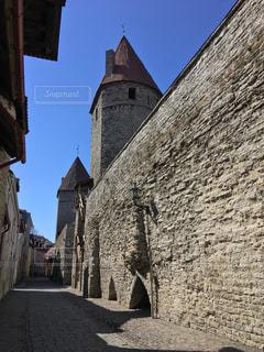 タリン旧市街の城壁の写真・画像素材[842198]