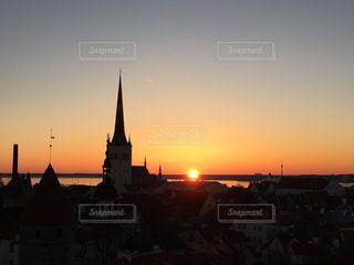 幻想的な日の出の写真・画像素材[842774]