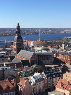 聖ペテロ教会からの眺め ラトビア・リガの写真・画像素材[855288]