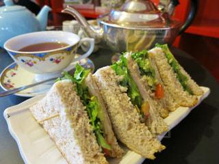 ロンドンのカフェで食べたサンドイッチ。の写真・画像素材[820546]
