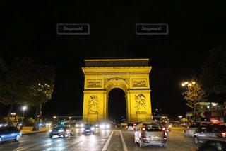 パリ凱旋門の写真・画像素材[874755]