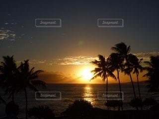 ハワイの夕陽の写真・画像素材[876127]