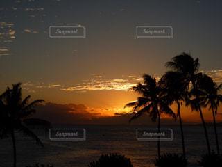 ハワイの夕陽の写真・画像素材[876202]