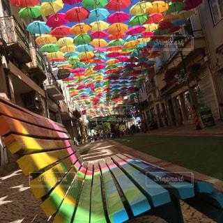 アゲダの傘祭りの写真・画像素材[876558]