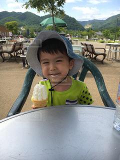 やっぱ夏はソフトクリームの写真・画像素材[819271]