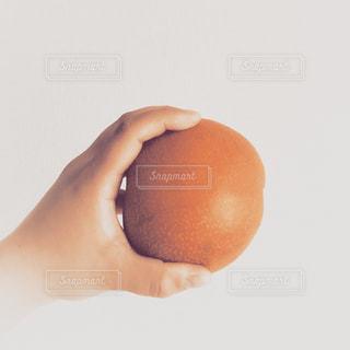 リンゴを持っている手の写真・画像素材[819836]