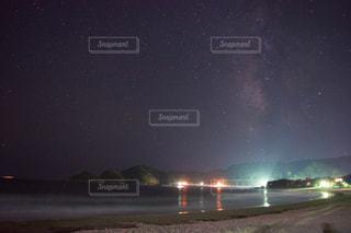 砂浜と星空の写真・画像素材[822204]