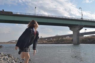 JKの川遊びの写真・画像素材[820867]