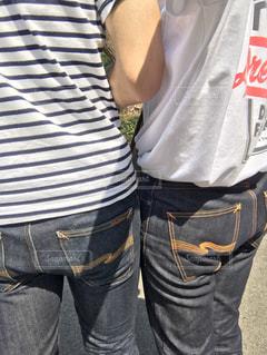 おそろいジーンズの写真・画像素材[821062]