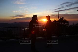 富士山からの日の出の写真・画像素材[821076]