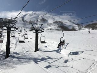 スキー場リフトの写真・画像素材[821935]