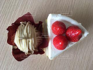 ショートケーキとモンブランの写真・画像素材[873657]