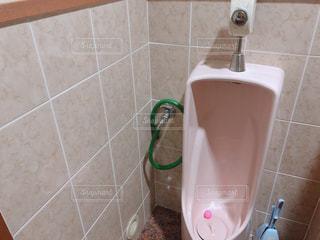 タイル張りの壁とトイレの写真・画像素材[1755745]