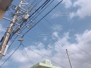 電柱と空の写真・画像素材[1759933]