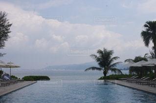 プールと海の写真・画像素材[825759]