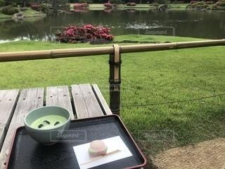 庭園とお抹茶の写真・画像素材[2179175]