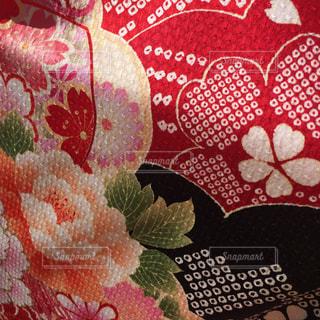 華やかな着物の布地の写真・画像素材[834512]