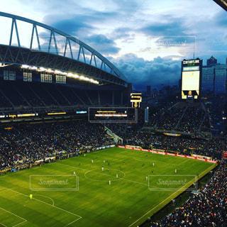 緑の芝生と大きなスタジアム - No.825561