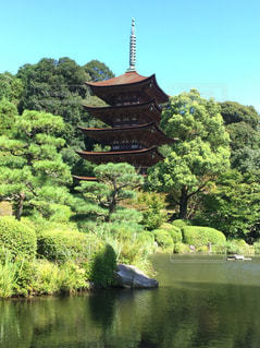 国宝  瑠璃光寺の写真・画像素材[827088]