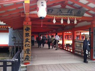 厳島神社の入り口の写真・画像素材[856948]