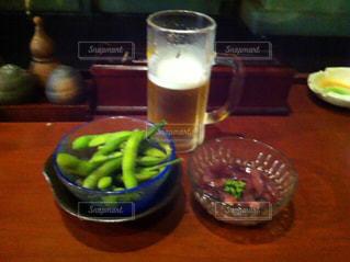 生ビールと枝豆の写真・画像素材[857085]