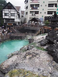 草津温泉の湯畑の写真・画像素材[827418]