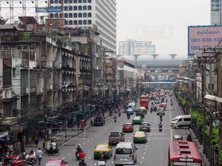 バンコクの交通渋滞の写真・画像素材[827566]