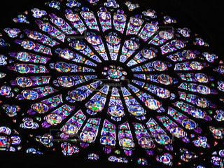 サント・シャペル教会のステンドグラスの写真・画像素材[926792]
